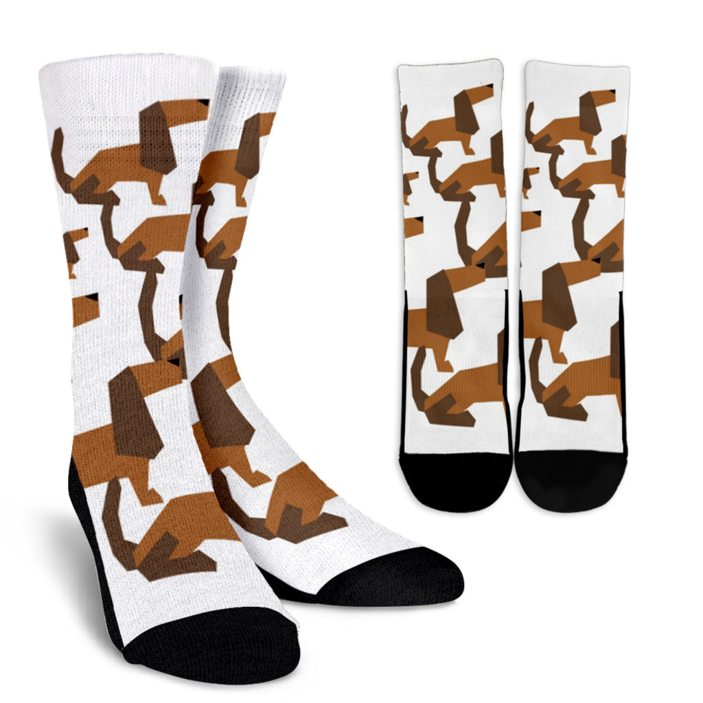 Cartoon Dachshund Socks