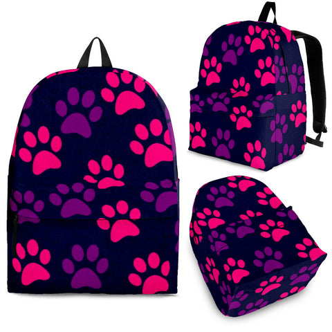 Purple/Pink Paw Print Backpack