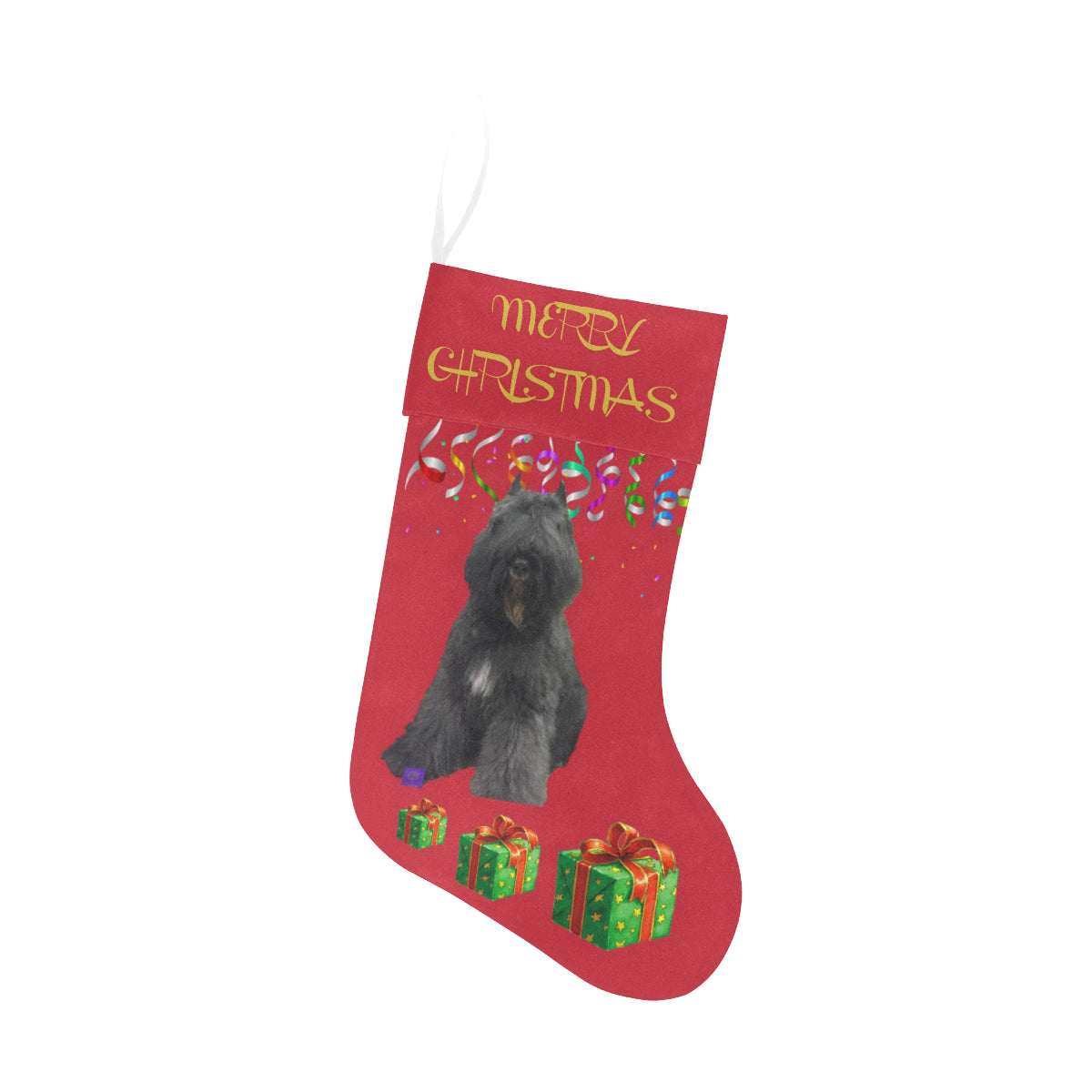 Bouvier des Flanders Christmas Stocking