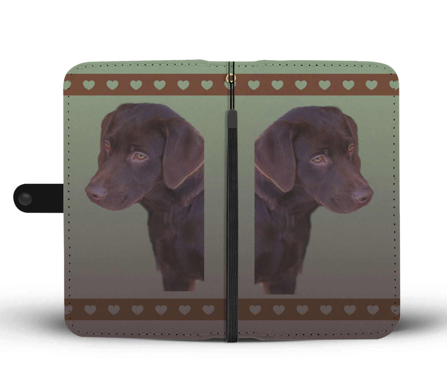 Chocolate Lab Phone Case Wallet