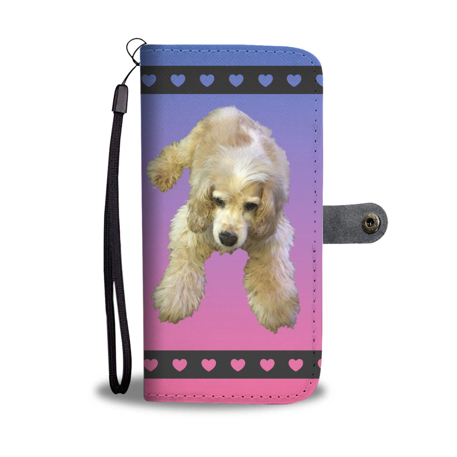 Cocker Spaniel Phone Case Wallet -Tan