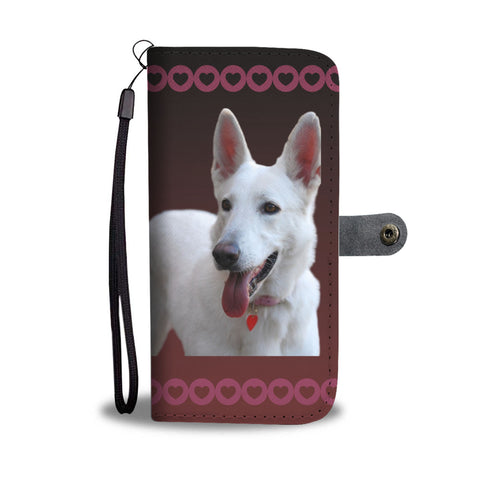 German Shepherd White Phone Case Wallet