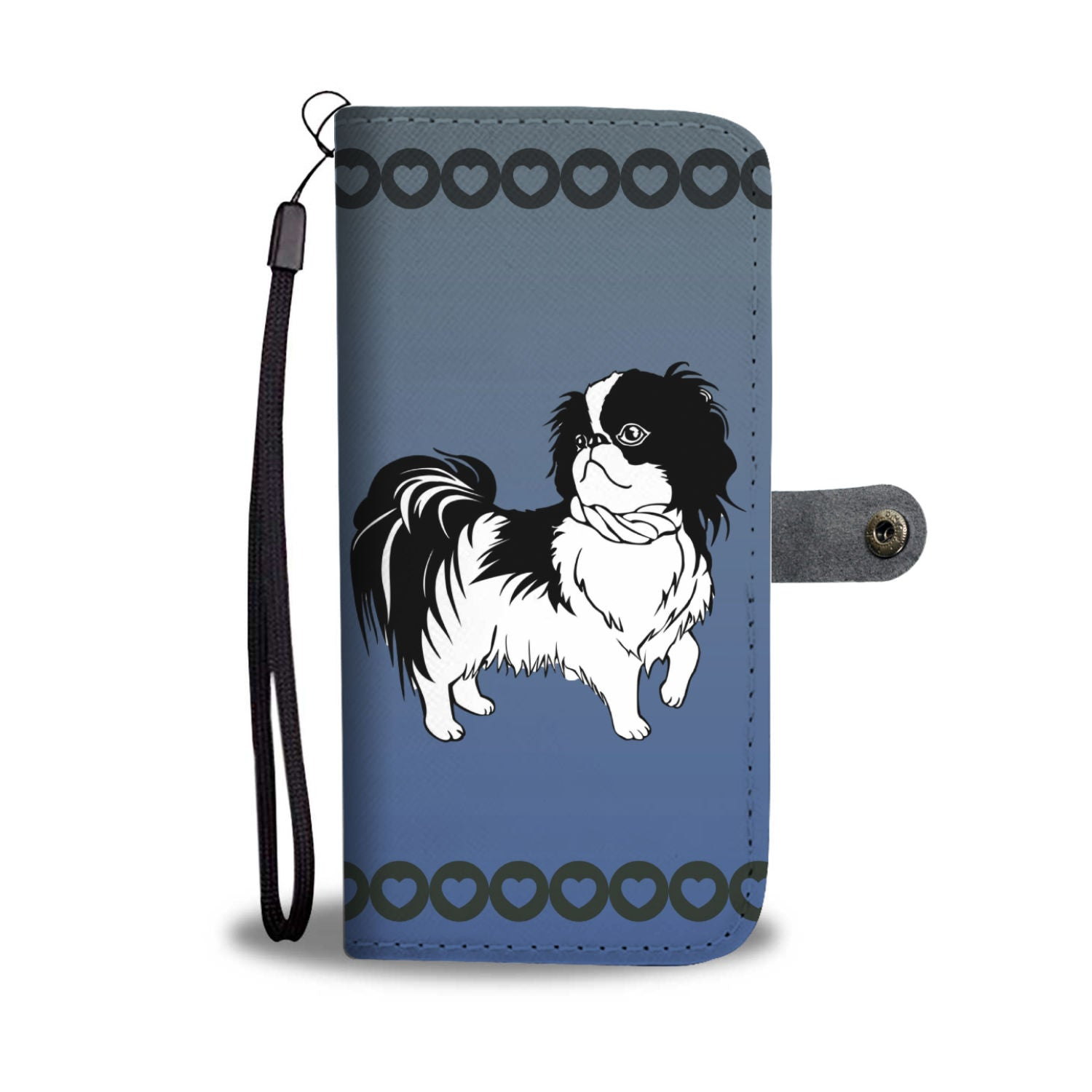Japanese Chin Phone Case Wallet