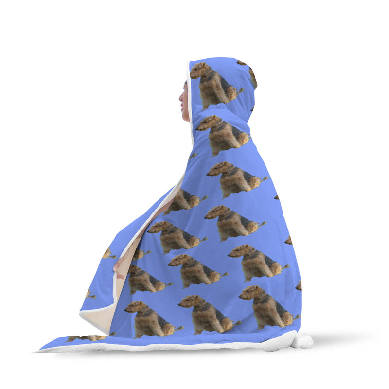 Airedale Terrier Hooded Blanket