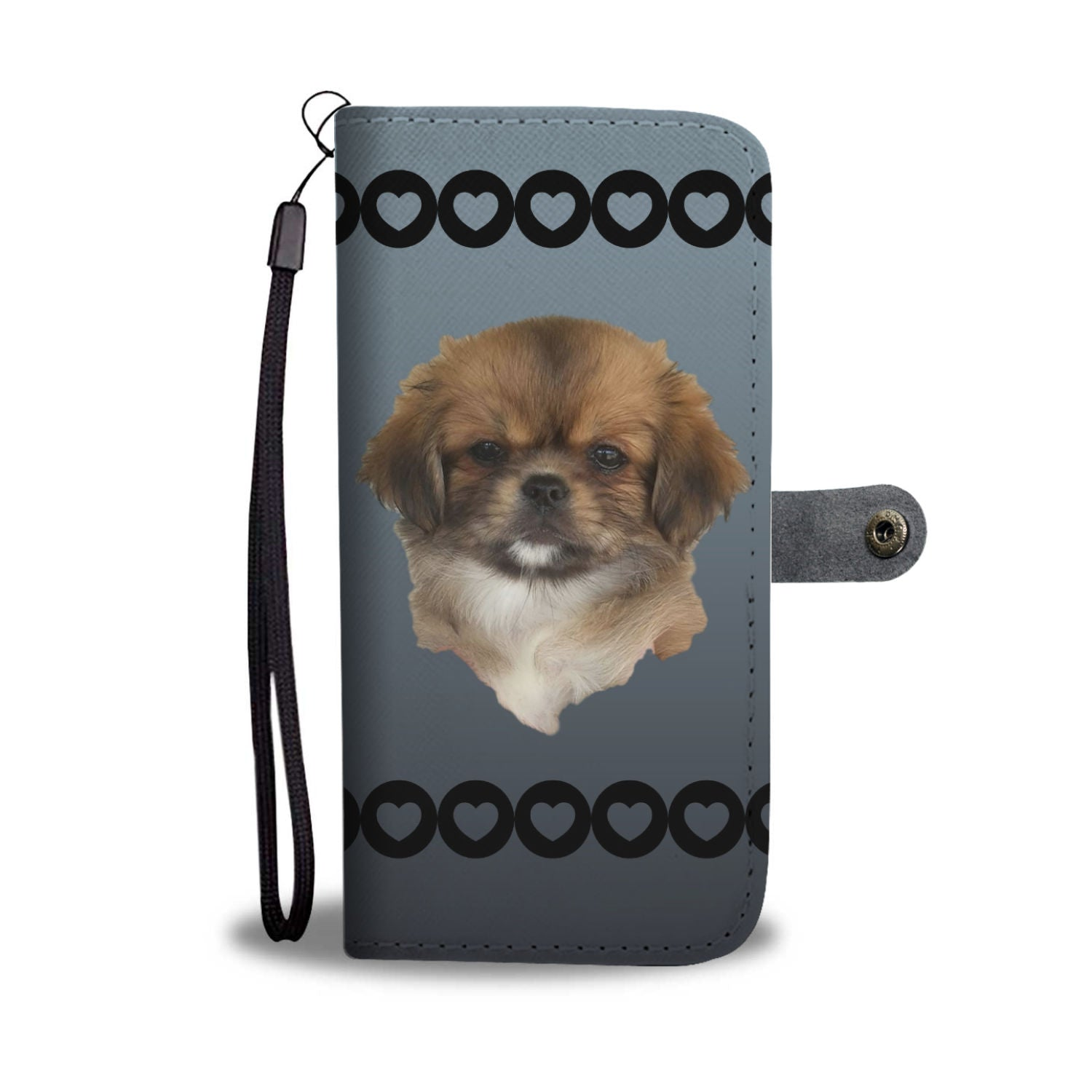 Tibetan Spaniel Puppy Phone Case Wallet