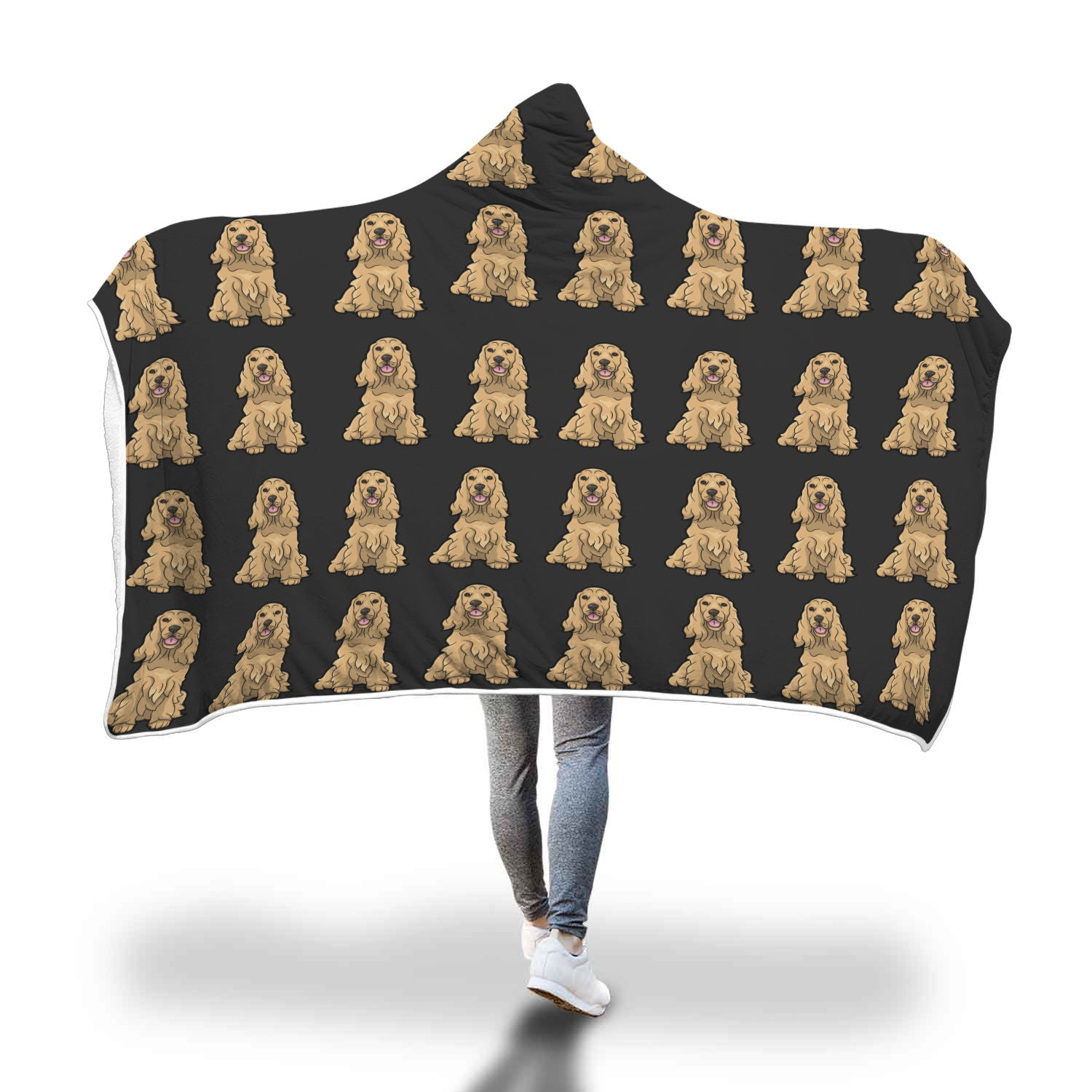 Cocker Spaniel Hooded Blanket