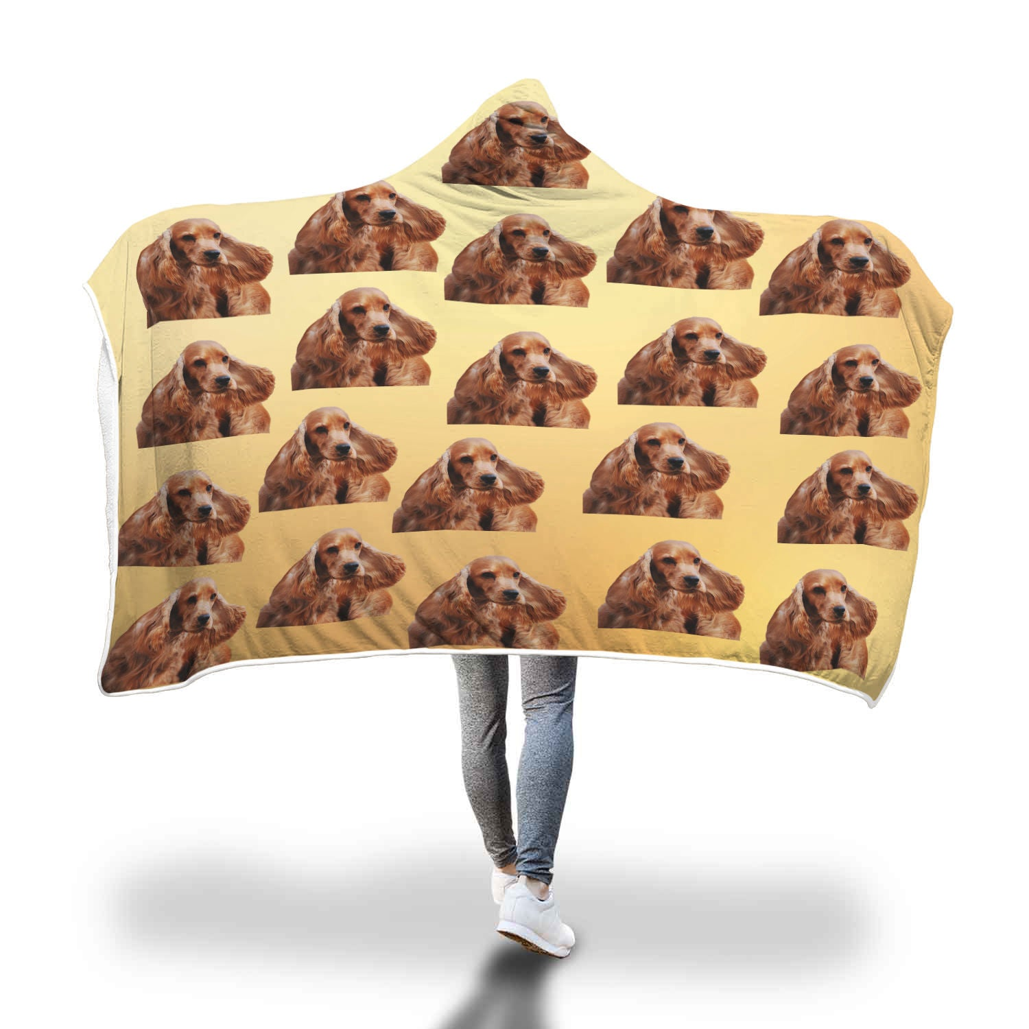Cocker Spaniel Hooded Blanket - Golden
