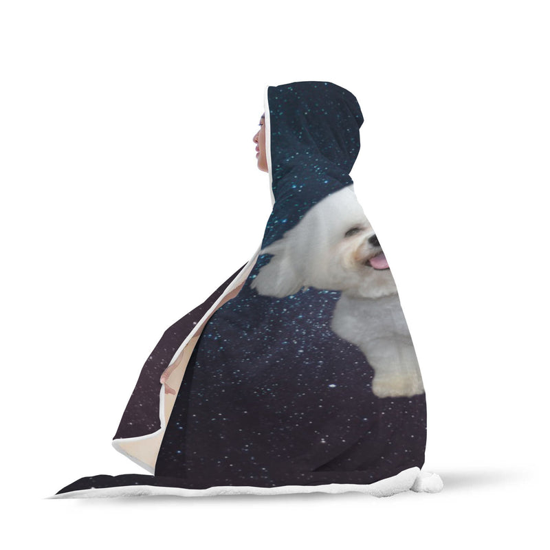 Bichon Hooded Blanket