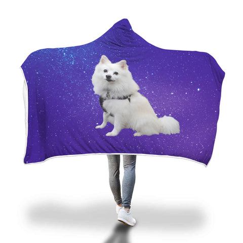 American Eskimo Hooded Blanket