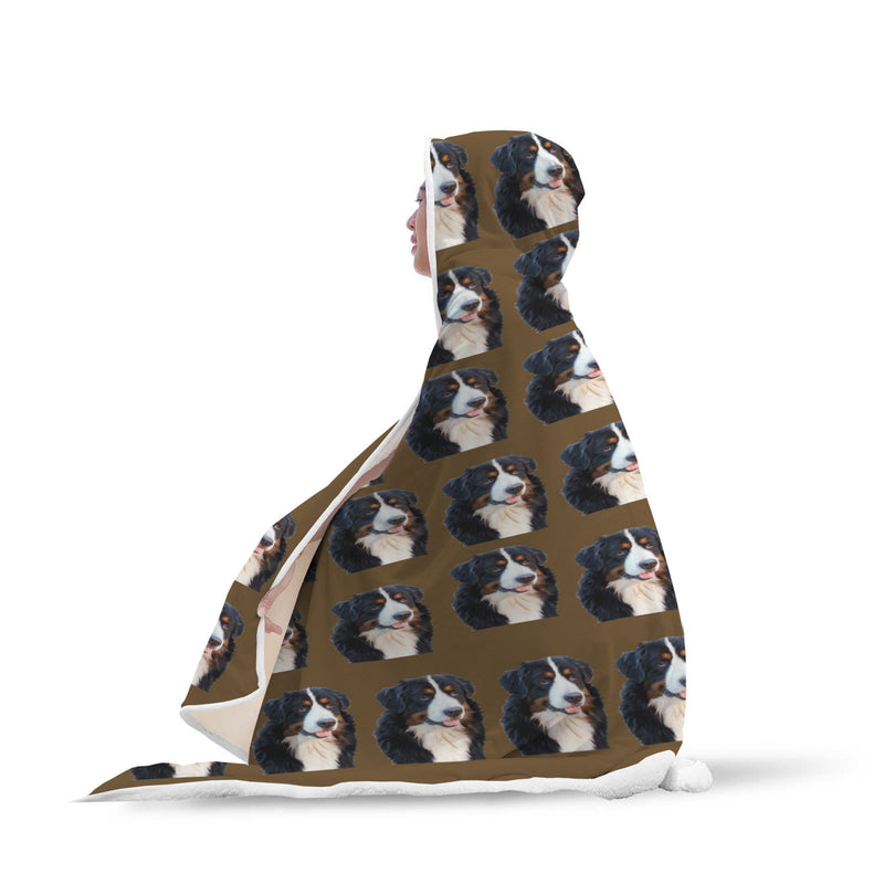 Bernese Mountain Dog Hooded Blanket