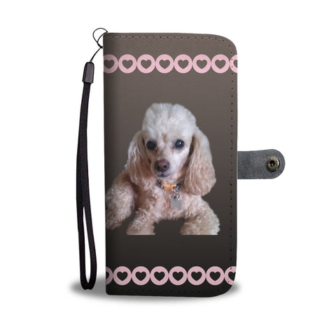 Toy Poodle Phone Case Wallet - Apricot