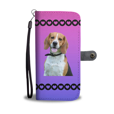 Beagle Phone Case Wallet - Pink