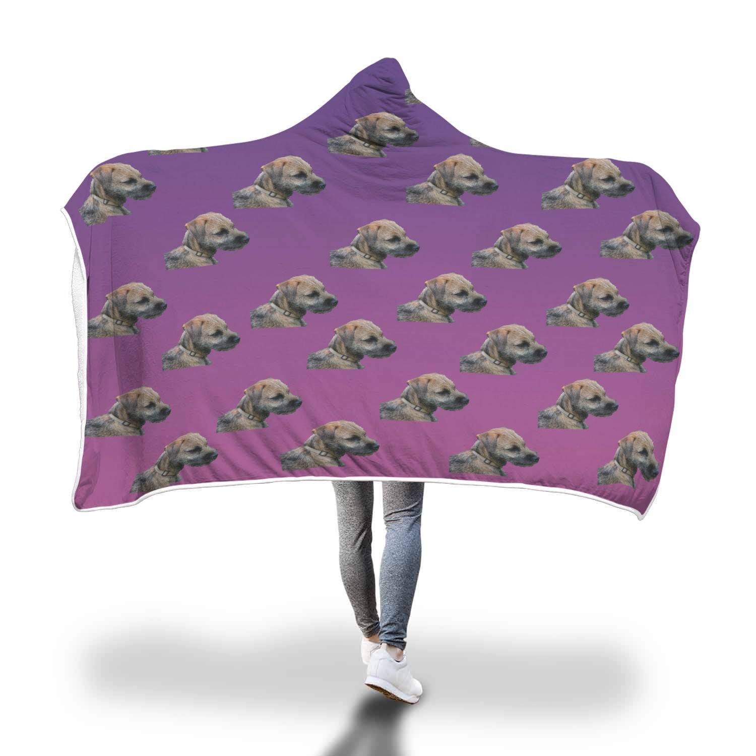 Border Terrier Hooded Blanket