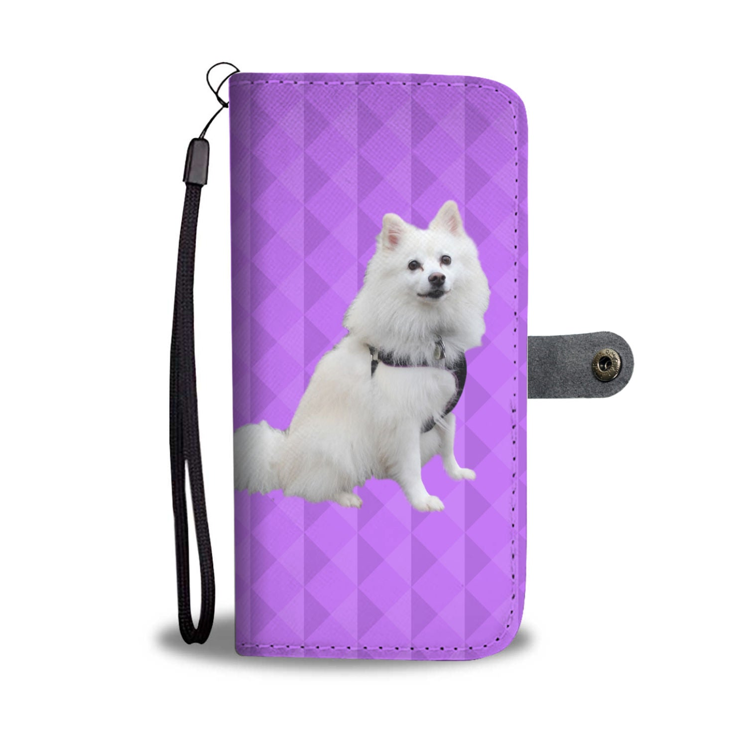 American Eskimo Phone Case Wallet
