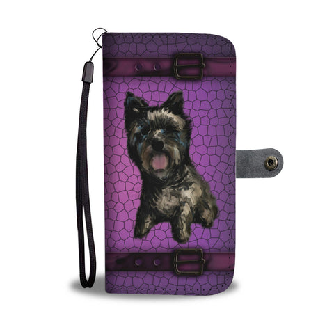 Cairn Terrier Phone Case Wallet - Black