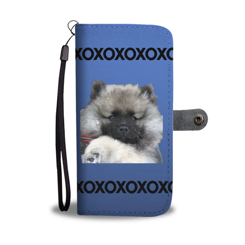 Keeshond Puppy Phone Case Wallet