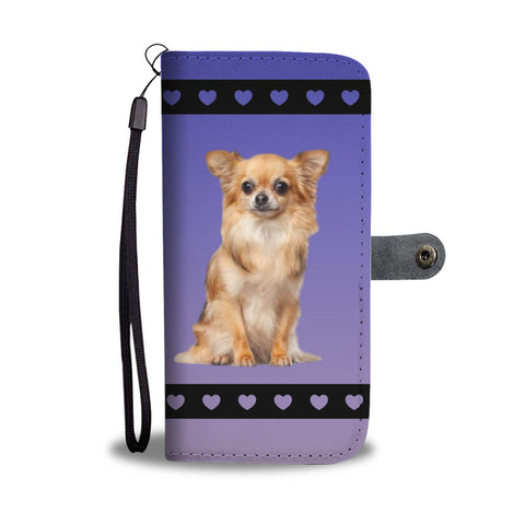 Chihuahua Phone Case Wallet - Long Hair
