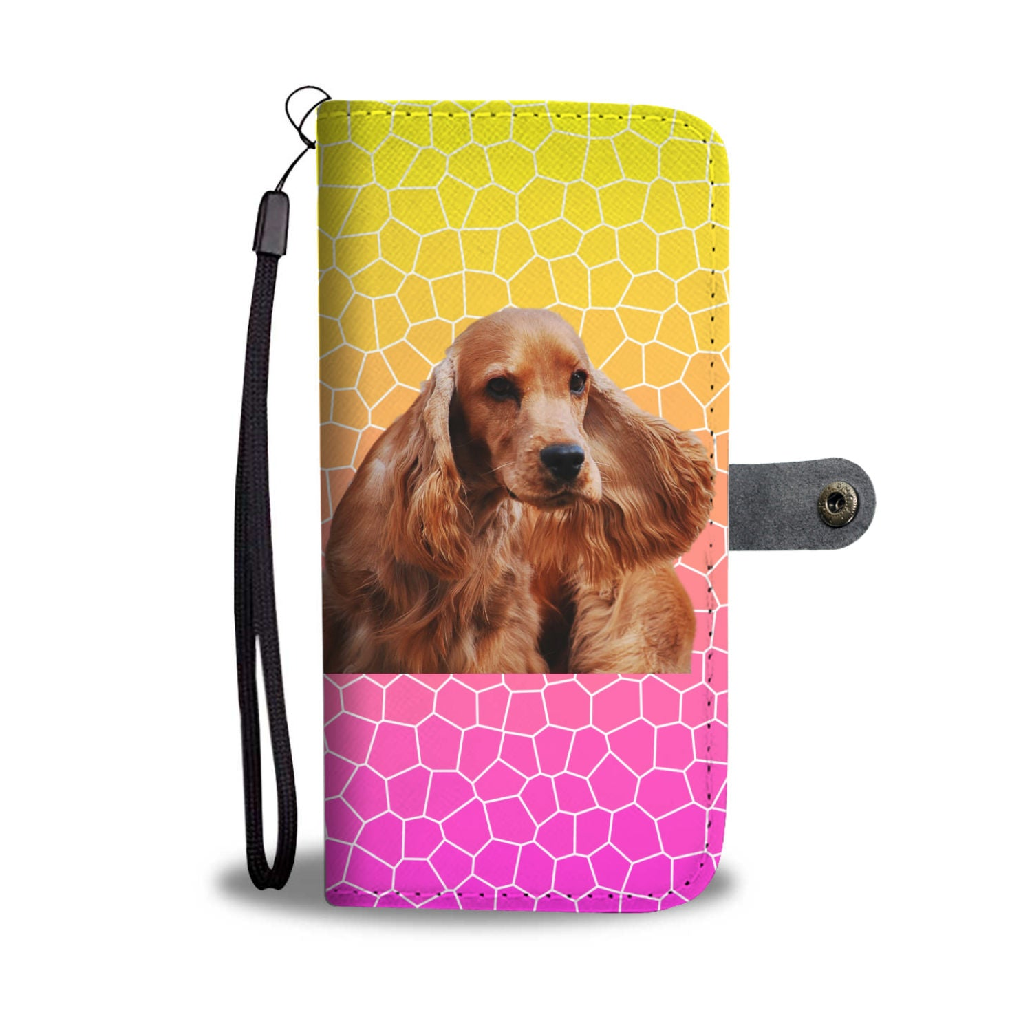 Cocker Spaniel Phone Case Wallet - English