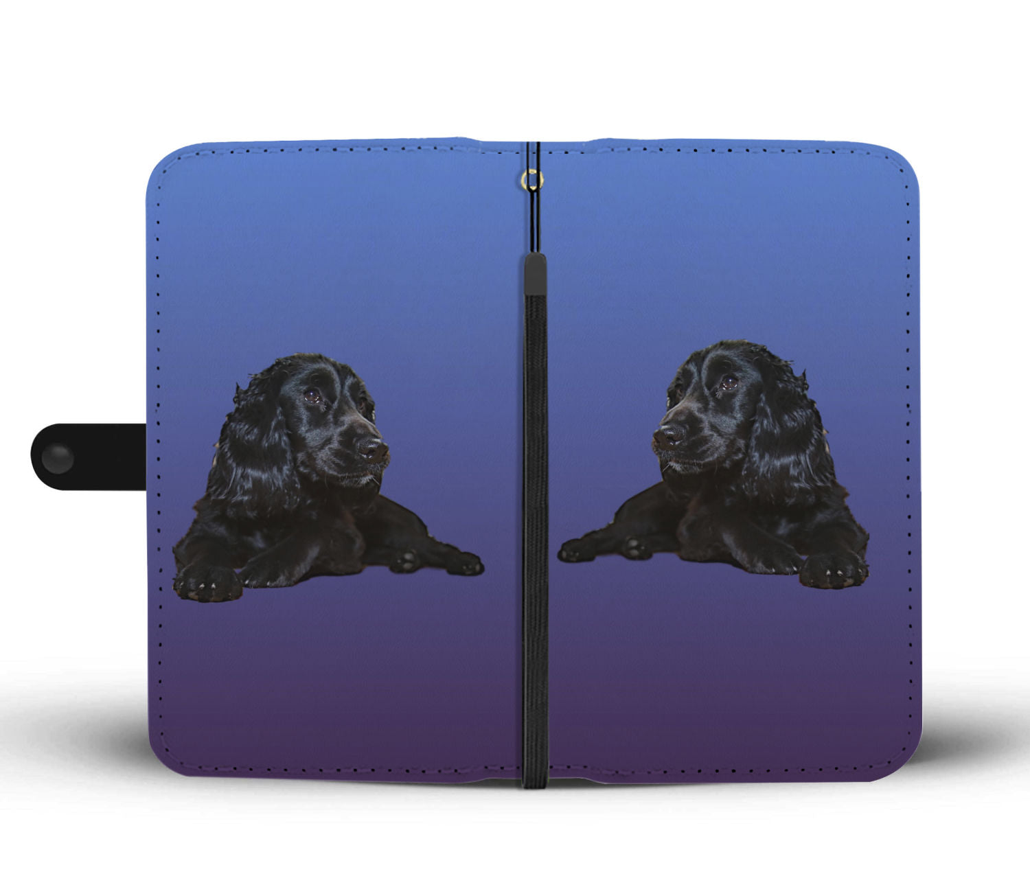 Cocker Spaniel Phone Case Wallet - Black