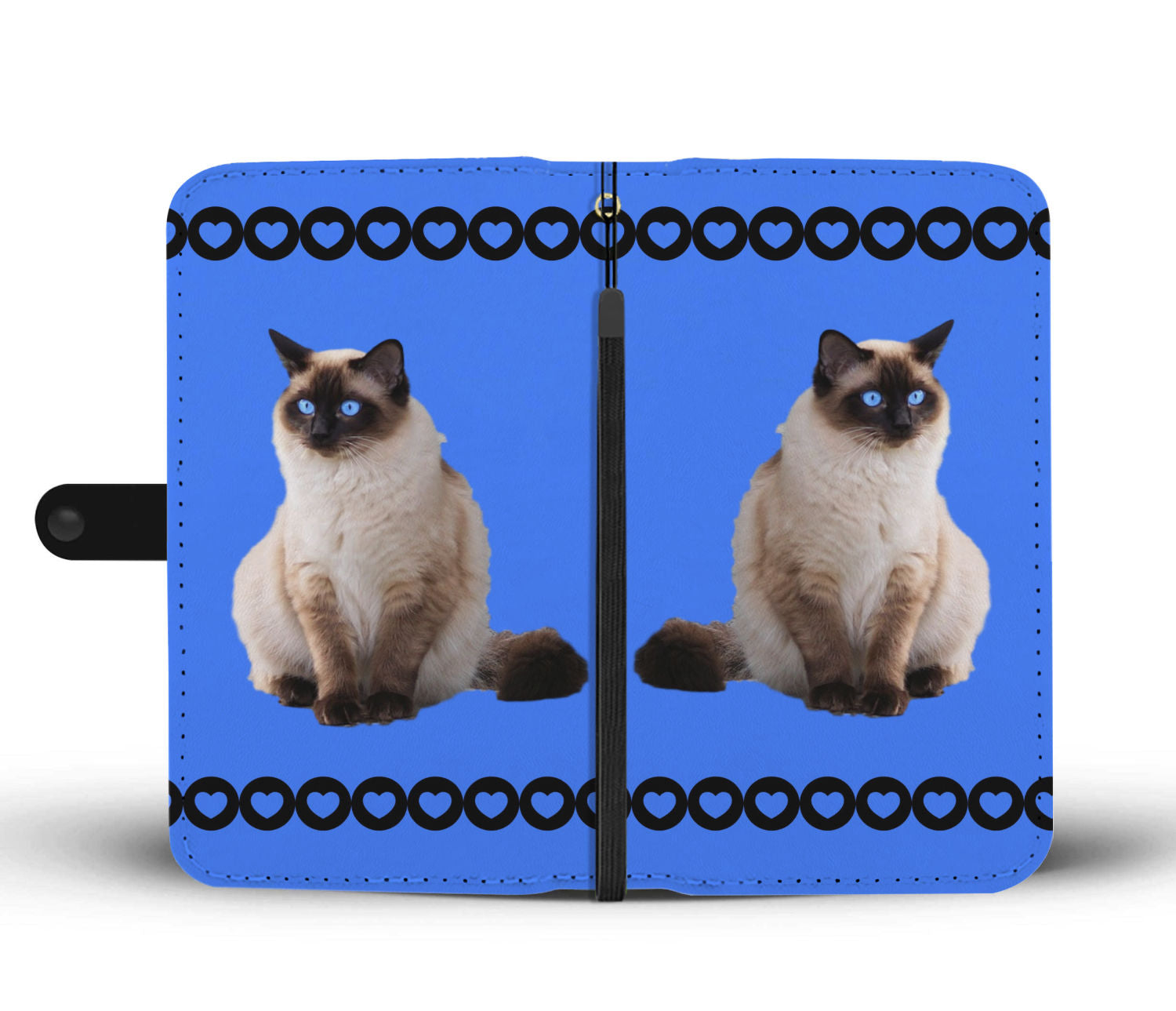 Siamese Cat Phone Case Wallet