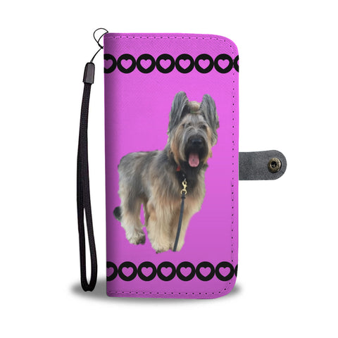 Briard Phone Case Wallet - Pink