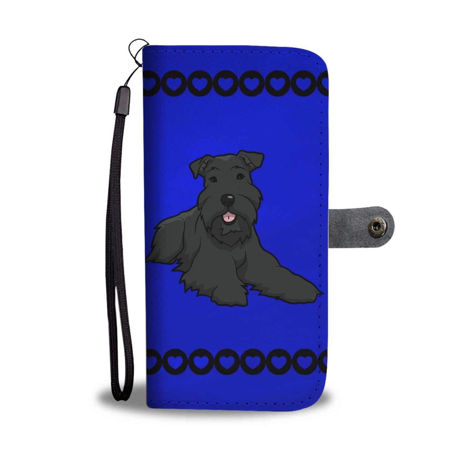 Schnauzer Black Phone Case Wallet