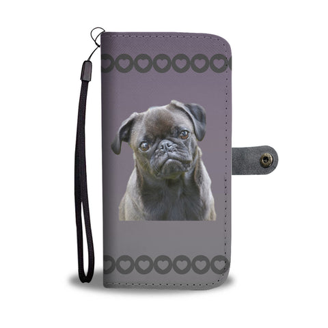 Pug Phone Case Wallet - Black Pug