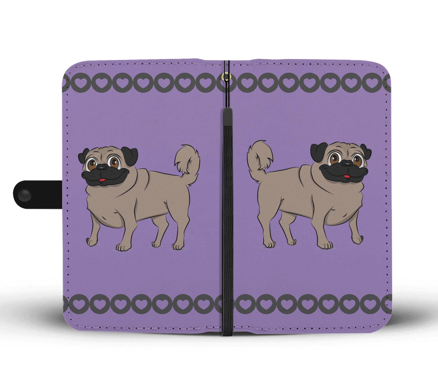 Pug Phone Case Wallet - Cartoon