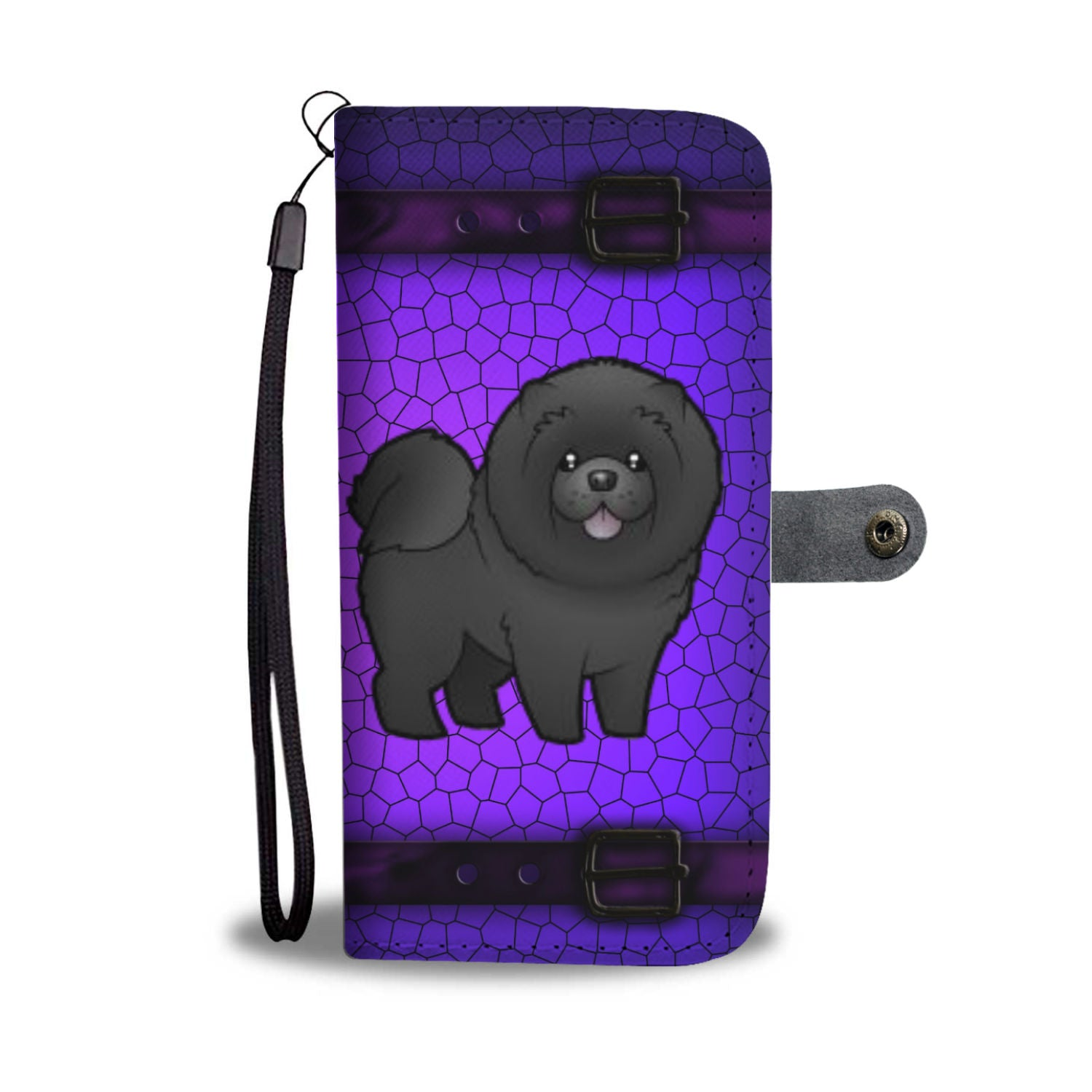 Chow Chow Phone Case Wallet - Black