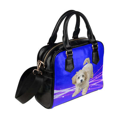 Maltipoo Shoulder Bag - White