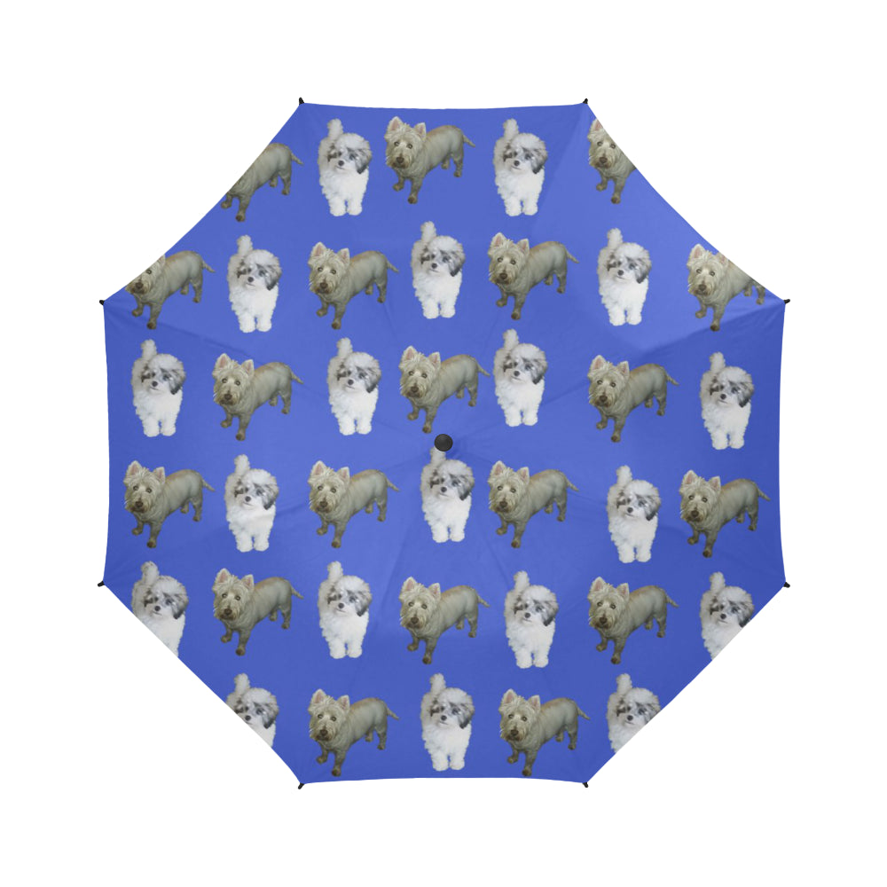 Westie & Shih Poo Umbrella - Semi Automatic