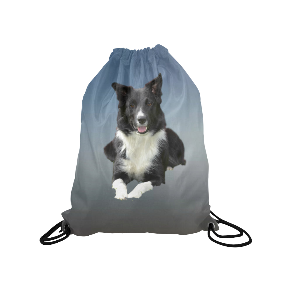 Border Collie Drawstring Bag
