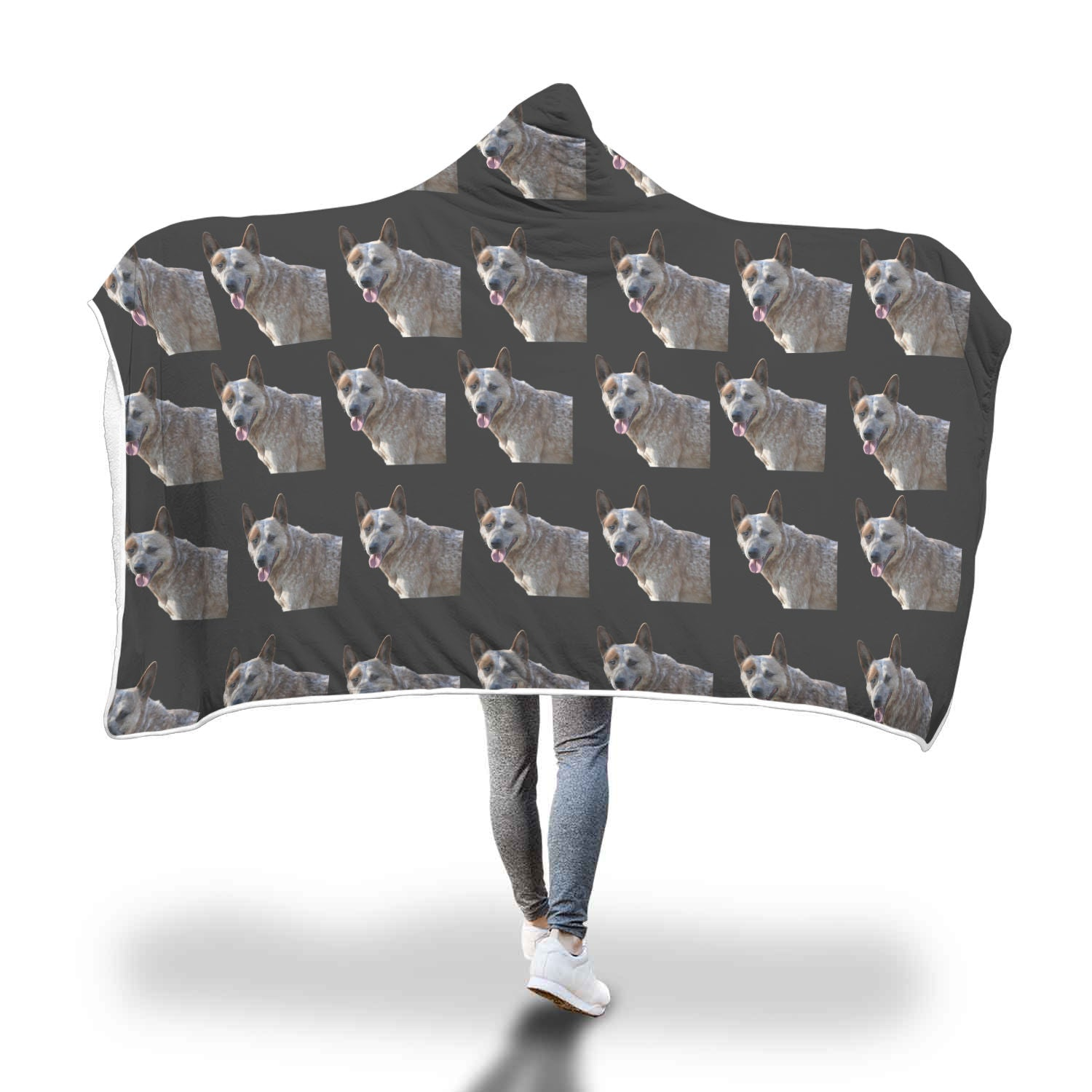 Australian Cattle Dog Hooded Blanket