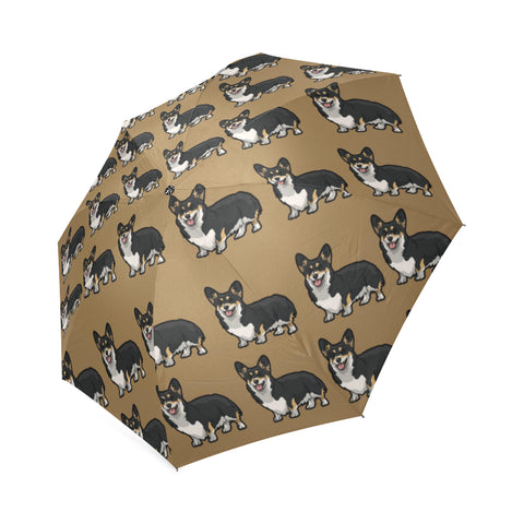 Corgi Umbrella - Tan
