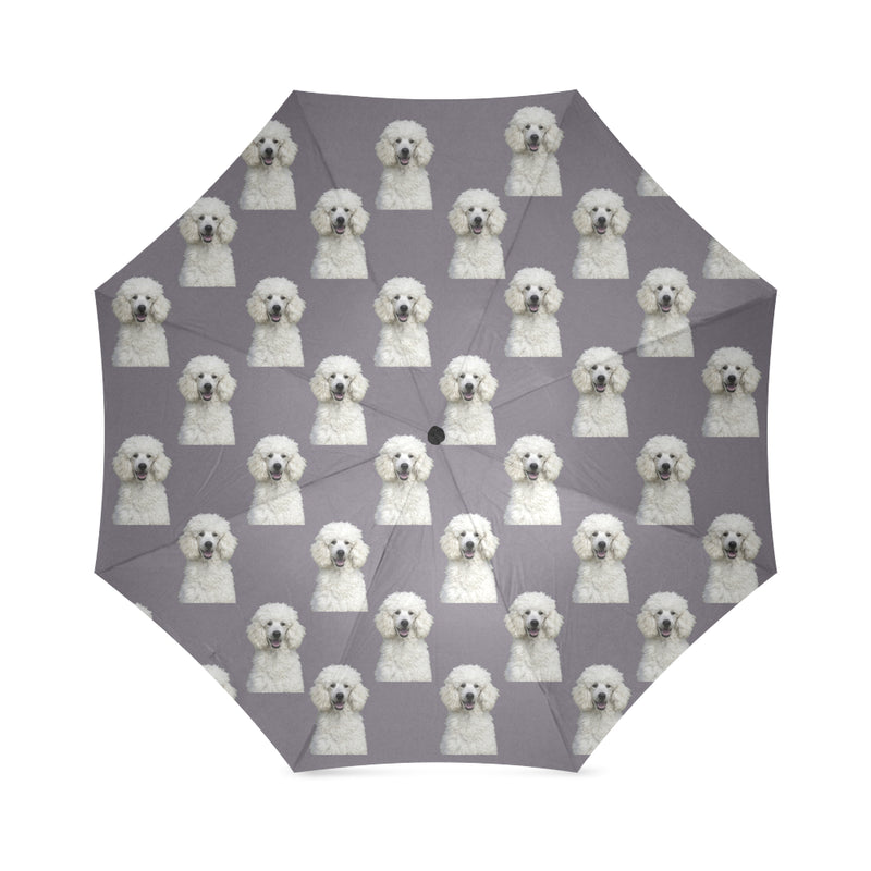 Poodle Umbrella - White Standard