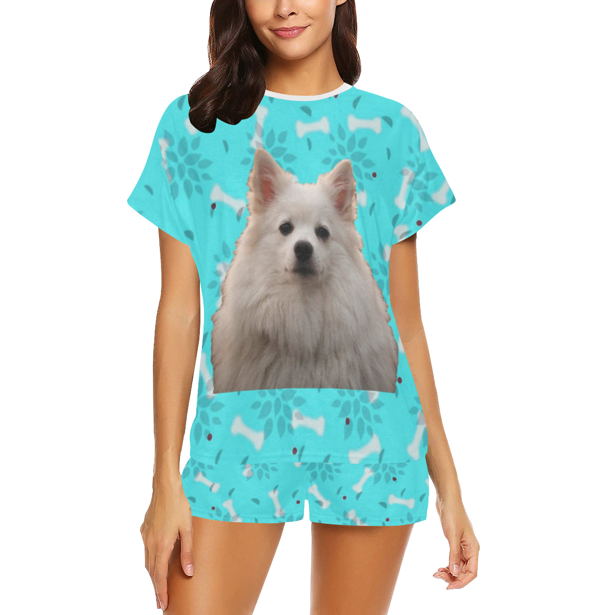 2 Piece Japanese Spitz PJ Set