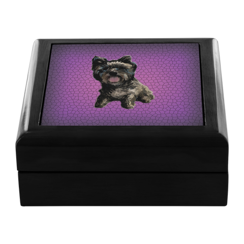 Cairn Terrier Jewelry Box - Black