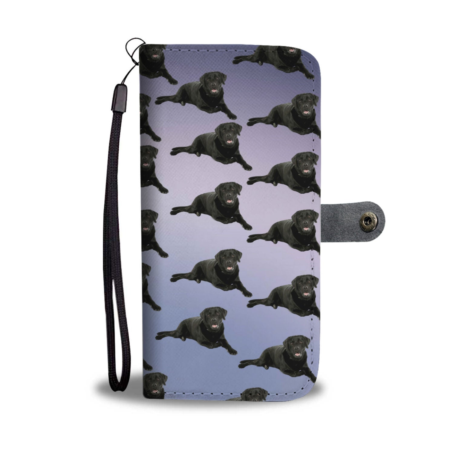 Black Lab Phone Case Wallet