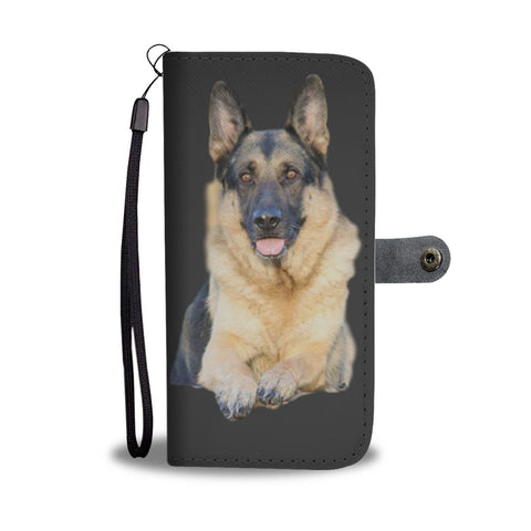 German Shepherd Phone Case Wallet - Black