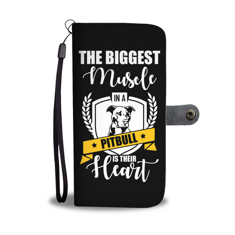 Pitbull Heart Phone Case Wallet