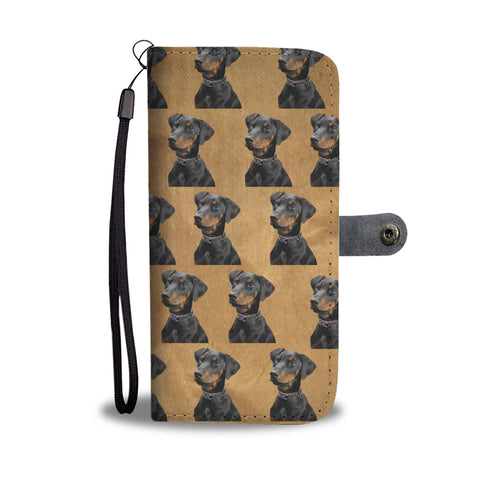 Doberman Phone Case Wallet