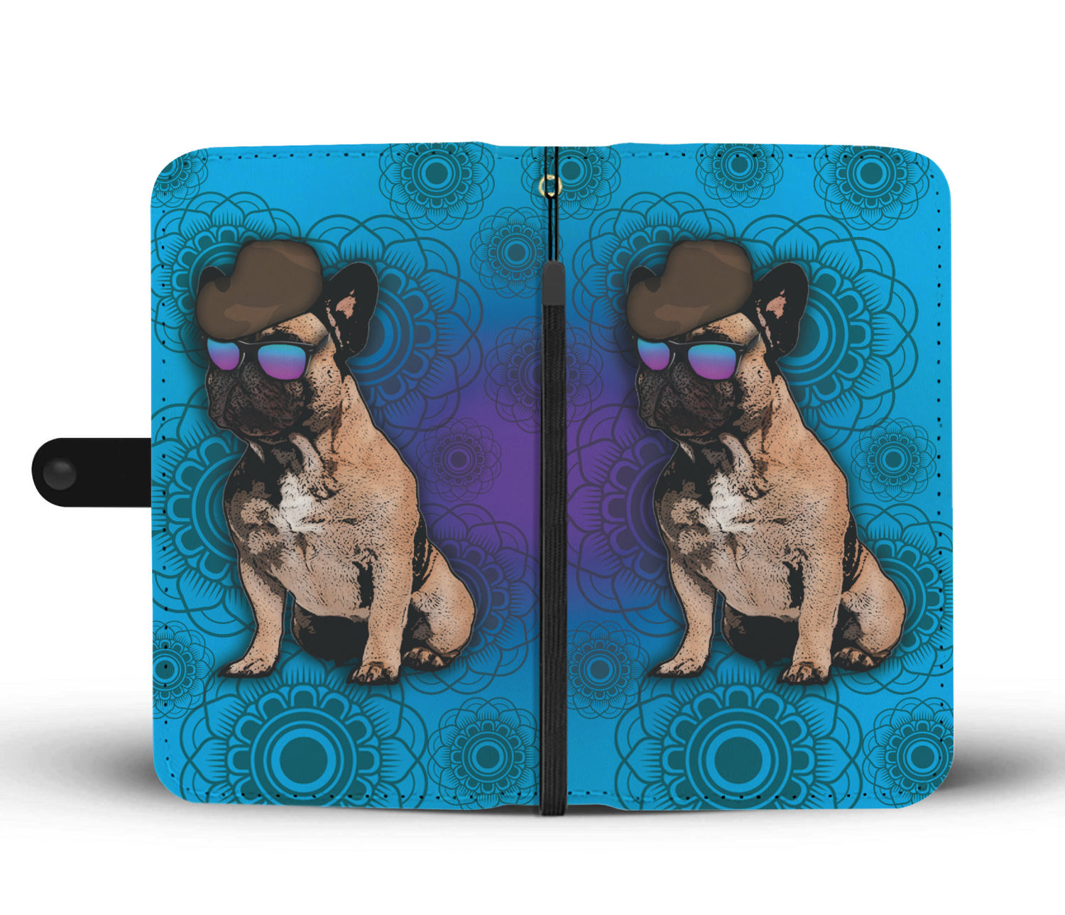 French Bulldog Phone Case Wallet - Blue
