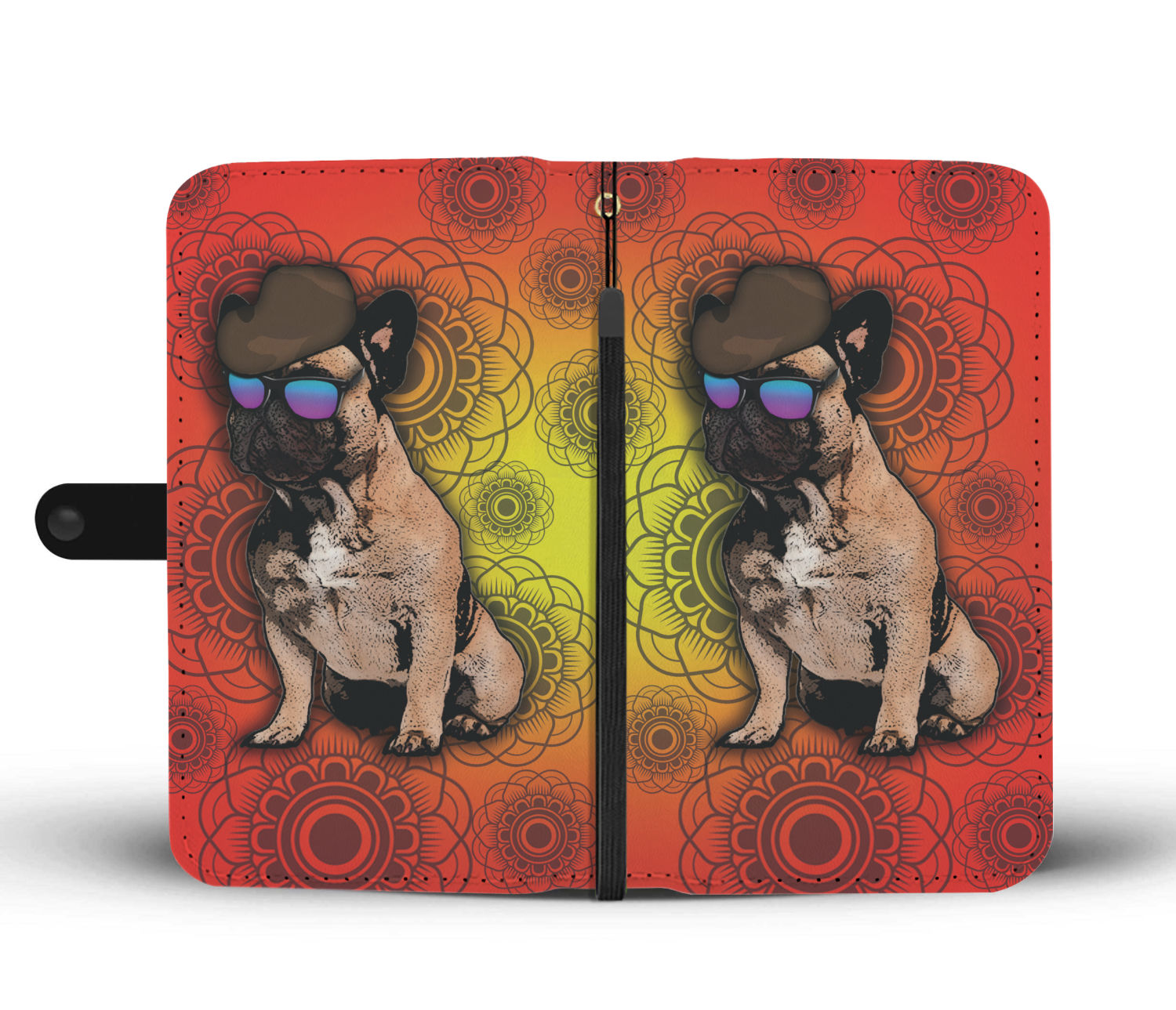 French Bulldog Phone Case Wallet - Orange