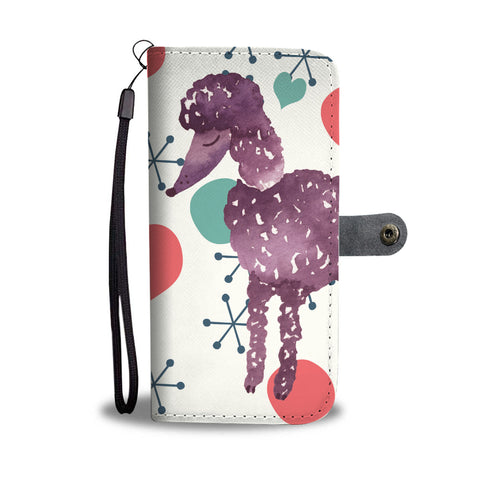Poodle Phone Case Wallet - Retro