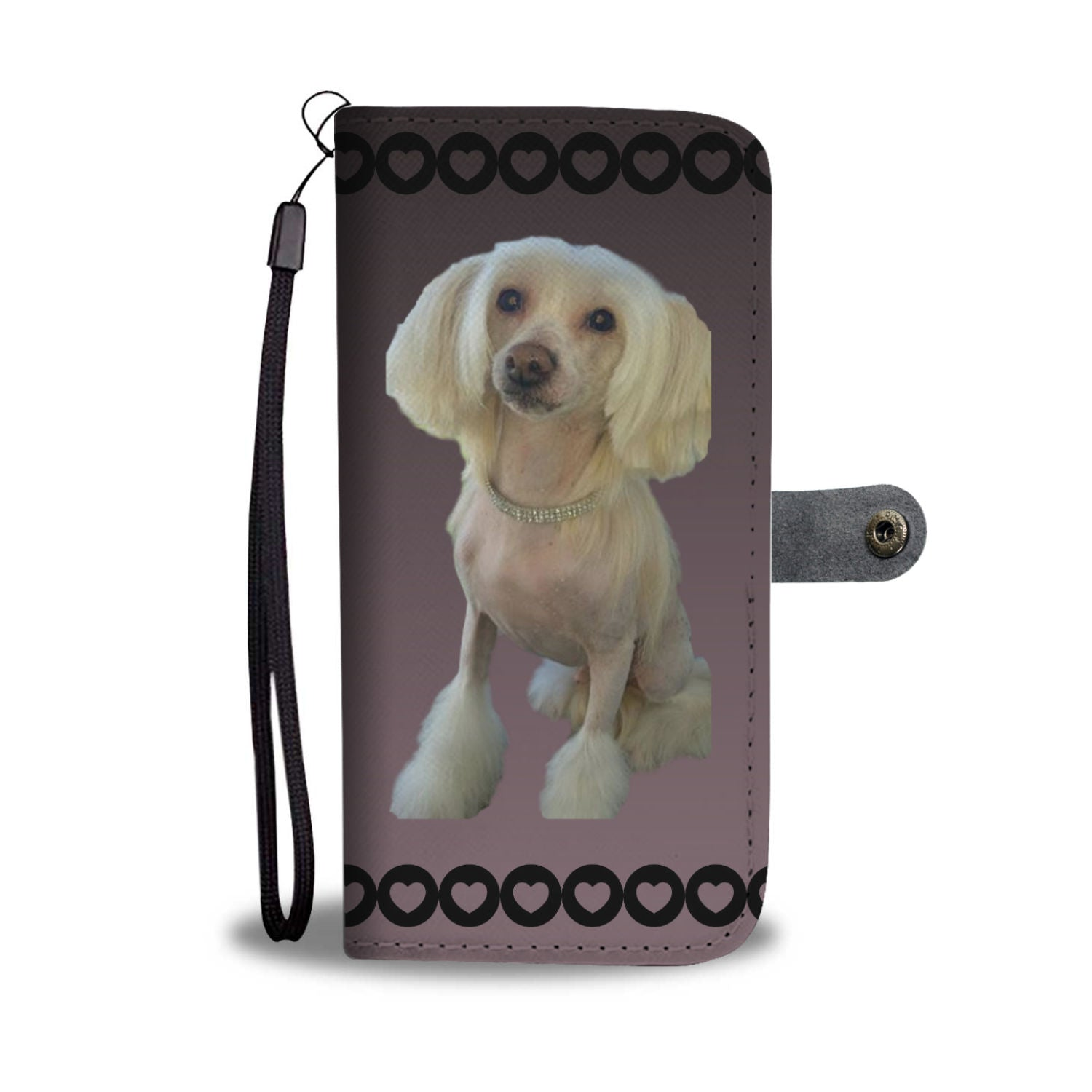 Chinese Crested Phone Case Wallet