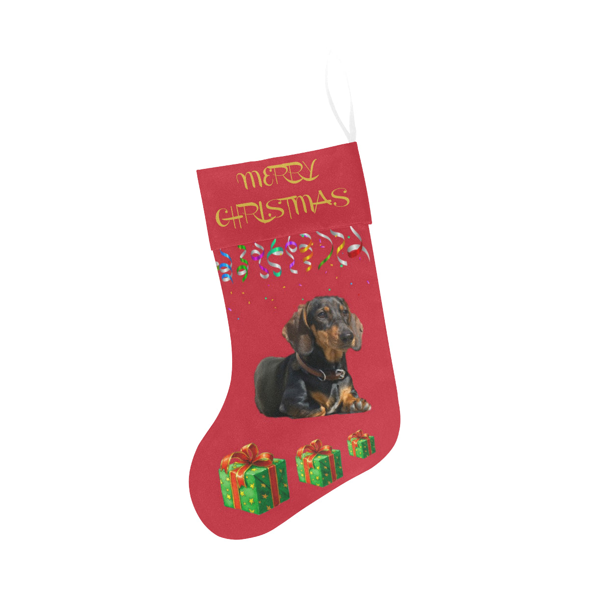 Dachshund Christmas Stocking