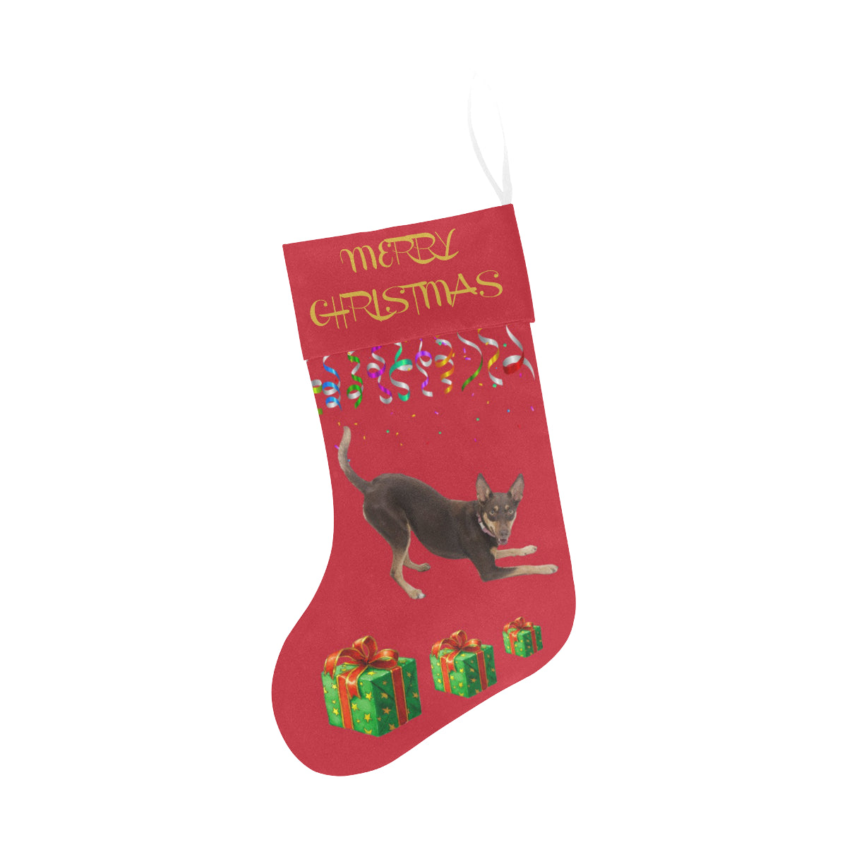 Australian Kelpie Christmas Stocking