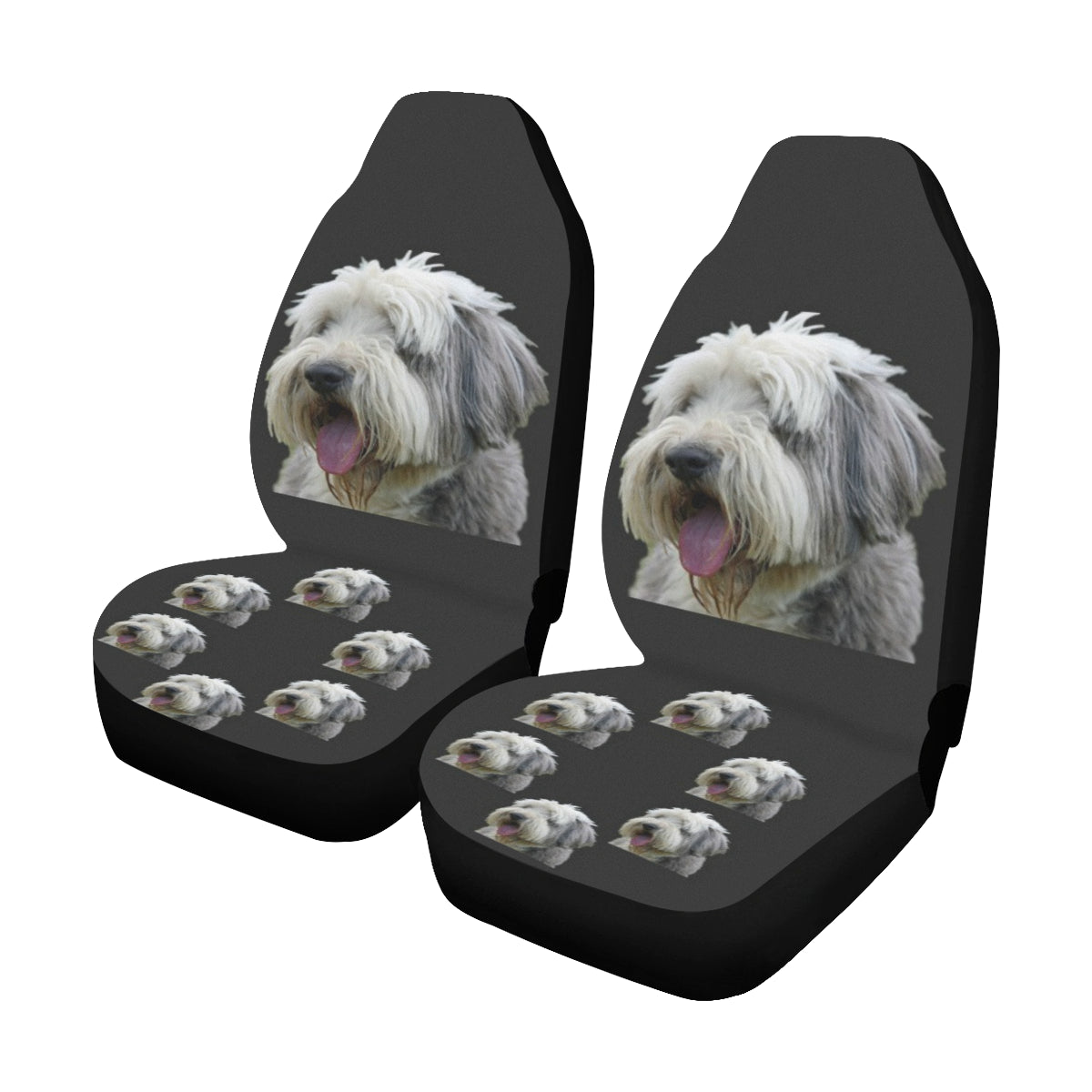 Bearded Collie Car Seat Covers (Set of 2)