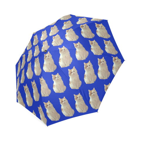 Cat Umbrella - Blue