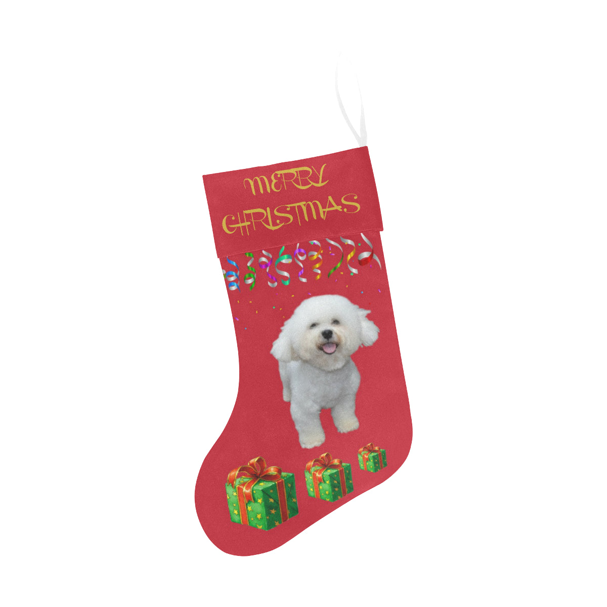 Bichon Christmas Stocking
